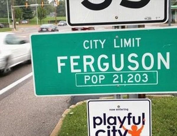 Ferguson MO city limits sign_-4447897698140208869