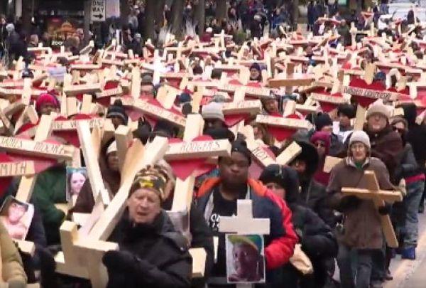 chicago murder march