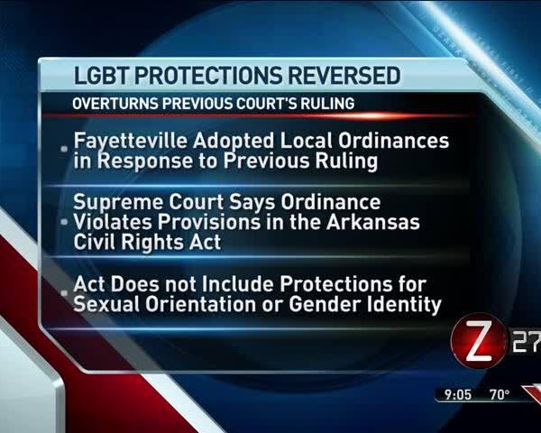 Arkansas Supreme Court Reverses Fayetteville LGBT Protection_05106085