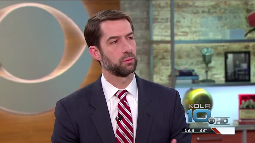 AR Sen- Tom Cotton Stands Ground After Town Hall Meeting_38513862