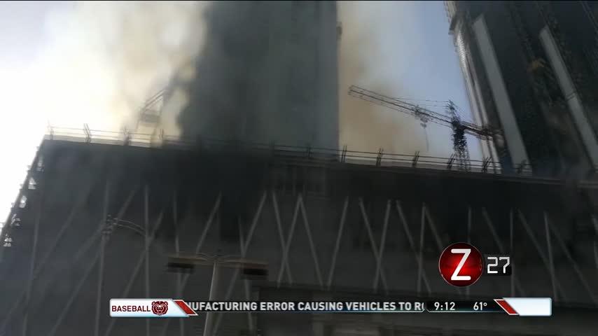 Dubai Skyscraper Fire Sends Smoke Over City_58208737