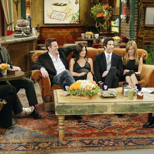 Friends TV show cast with Jay Leno20065345-159532