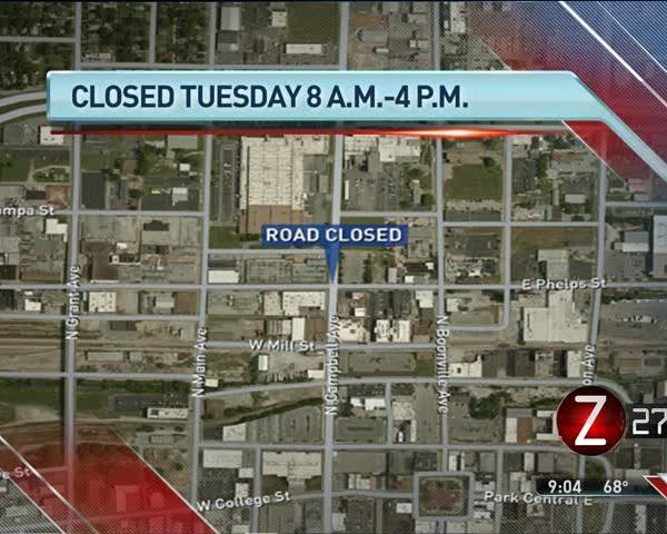 TRAFFIC ALERT- Stretch of Campbell Avenue Closed Tuesday_13874205