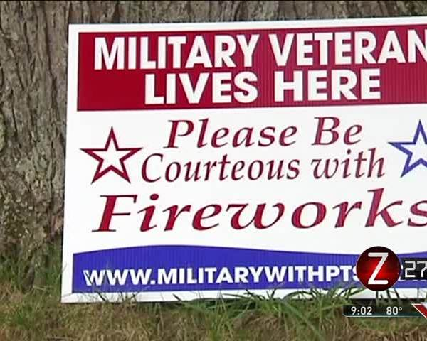 Veterans with PTSD Cope with Fireworks_87148991