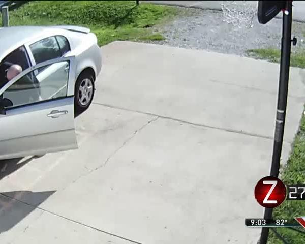 Car Thief Caught On Surveillance Camera_35072683