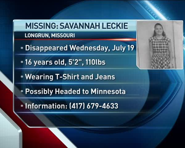 Missing Ozark 16-Year-Old May be Headed to Minnesota_58350341