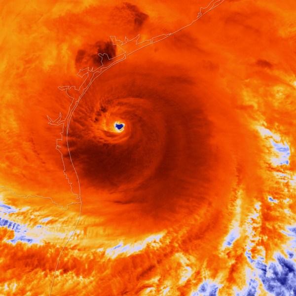 Hurricane Harvey just prior to making landfall, NOAA handout,24211133-159532