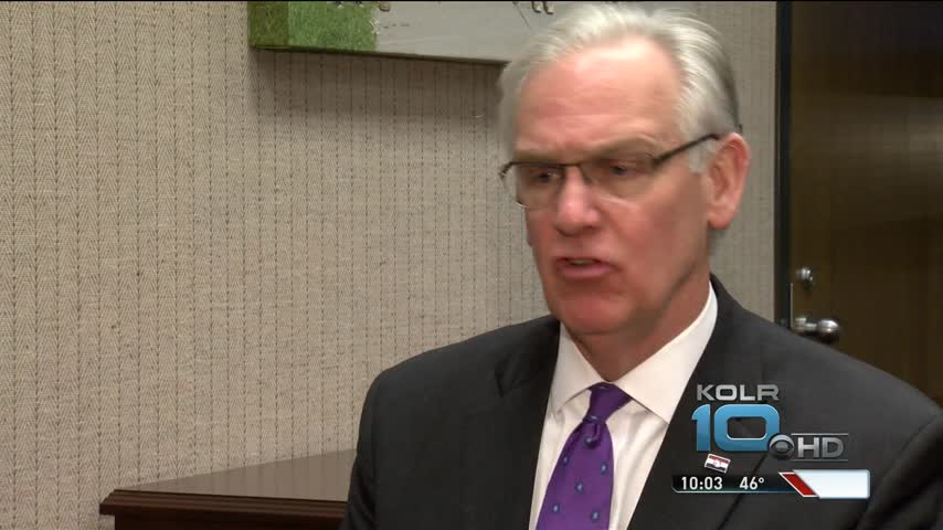 Missouri Gov- Jay Nixon Chats With KOLR10 Before Departing_29639021