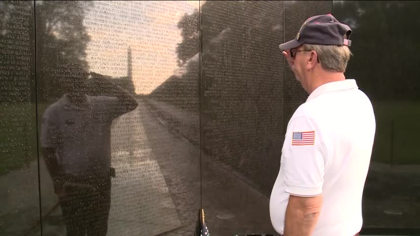 Veterans Gather at Vietnam Wall to Commemorate Comrades_48662731