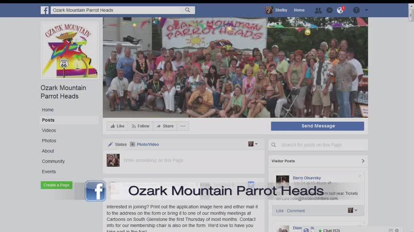 Ozark Mountain Parrot Heads - 8/7/17