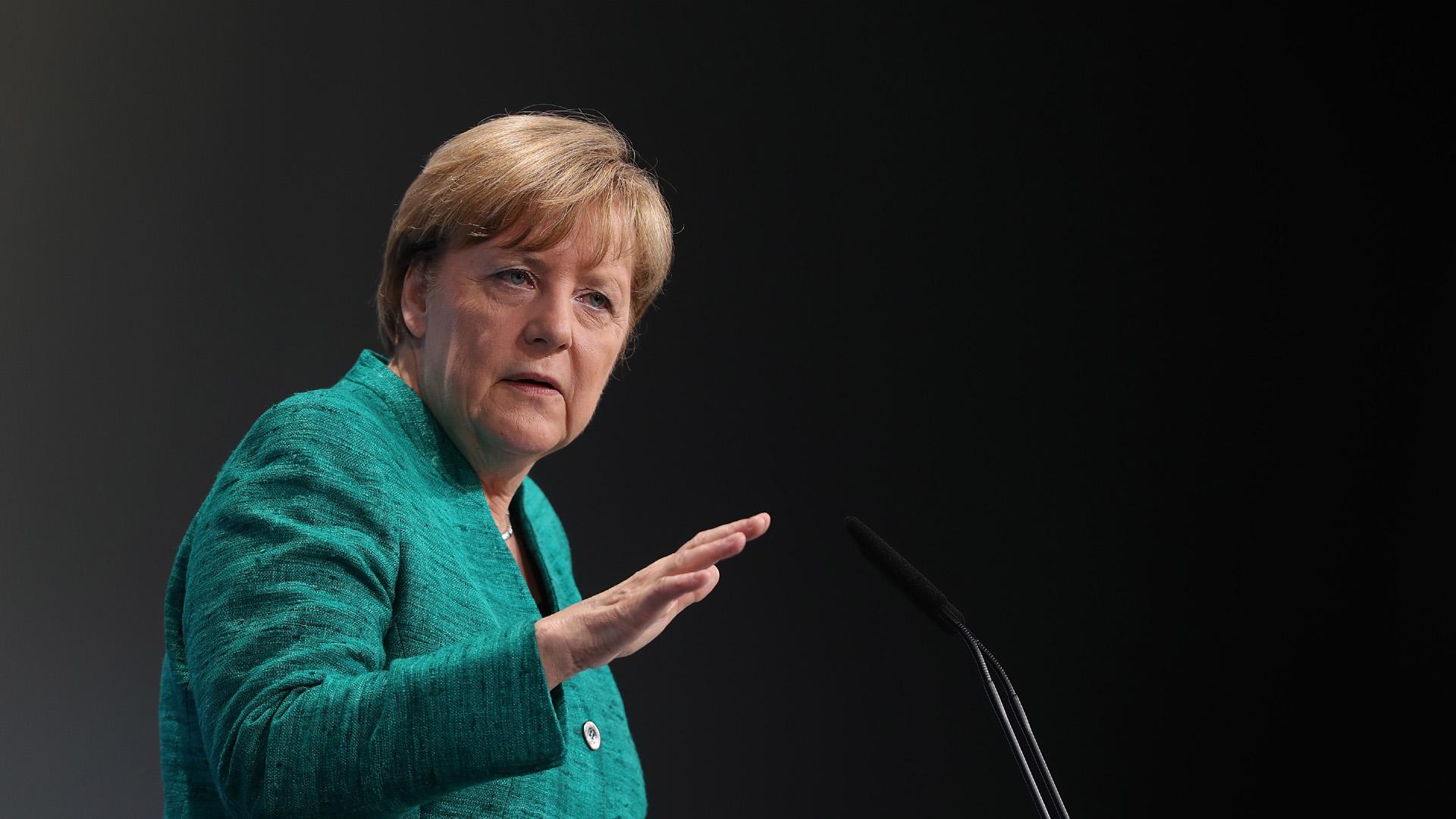 Angela Merkel, German Chancellor closes G20 summit, Hamburg57891196-159532