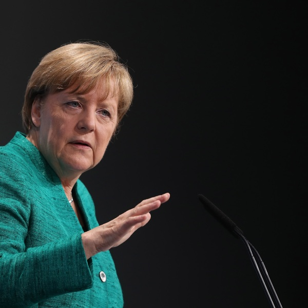 Angela Merkel, German Chancellor closes G20 summit, Hamburg57891196-159532