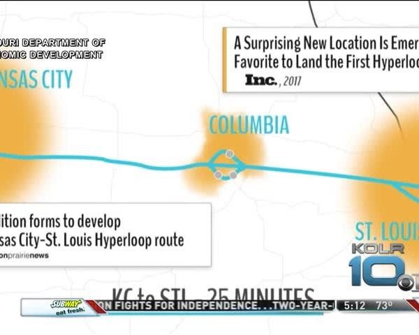 Hyperloop Connecting St- Louis- Kansas City Part of Amazon_73356682