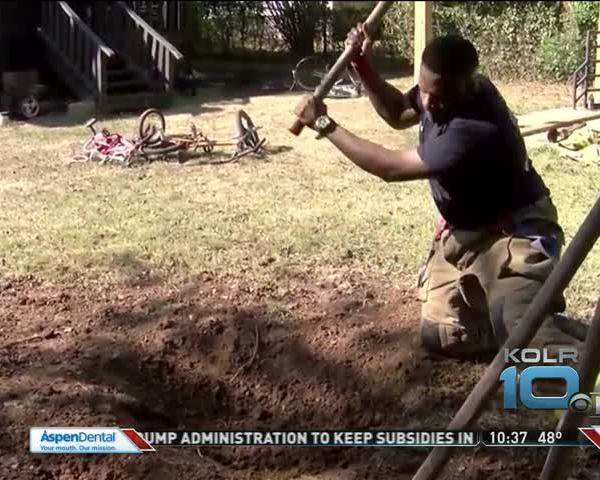 firefighter digs for family_91092926