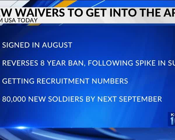 Army Lifts Ban on Waivers for Recruits with History of Menta_96265002