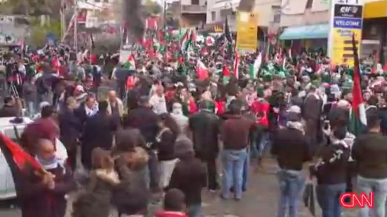 Beirut Lebanon protesters outside US embassy, Trump Jerusalem decision55439280-159532