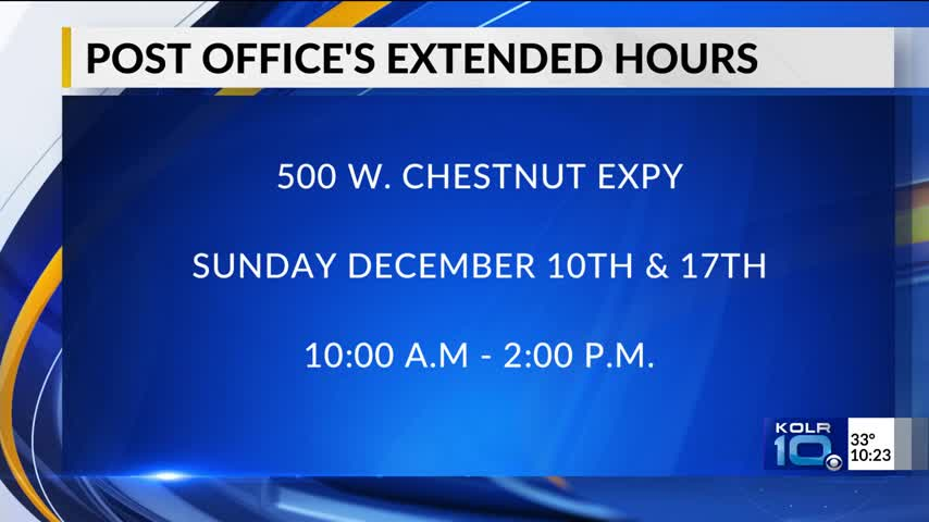 Springfield Post Office Open Extra Hours During Holiday Seas_74425057