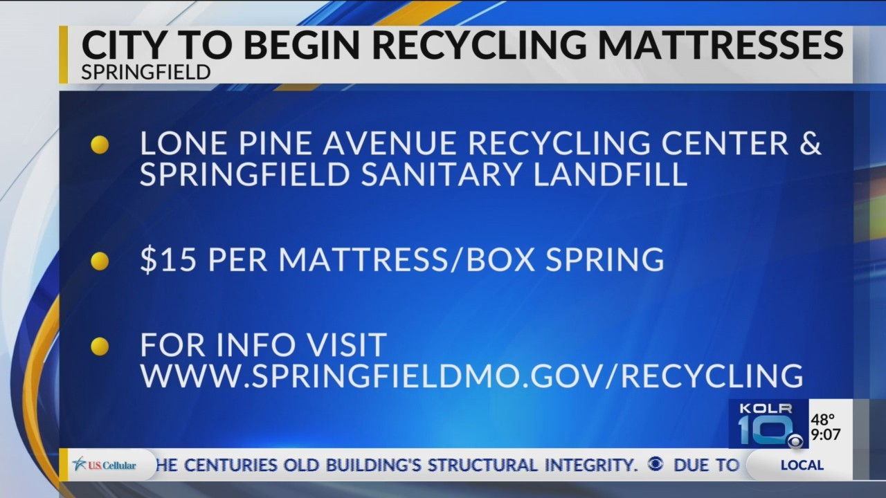 Springfield To Offer Mattress Recycling
