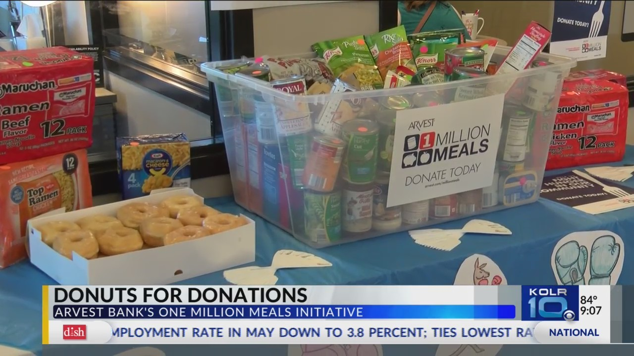 Arvest Bank Trades Donuts for Donations