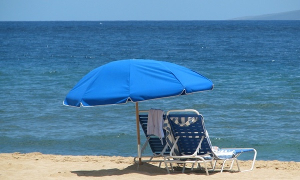 Beach chairs, umbrella, vacation, ocean_1255221241453352-159532