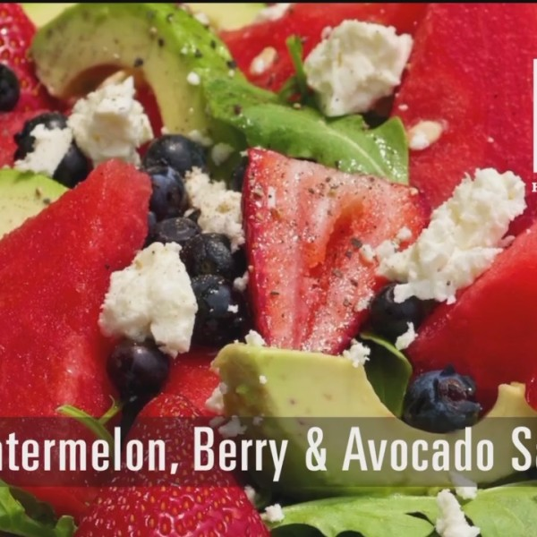 Watermelon, Berry & Avocado Salad