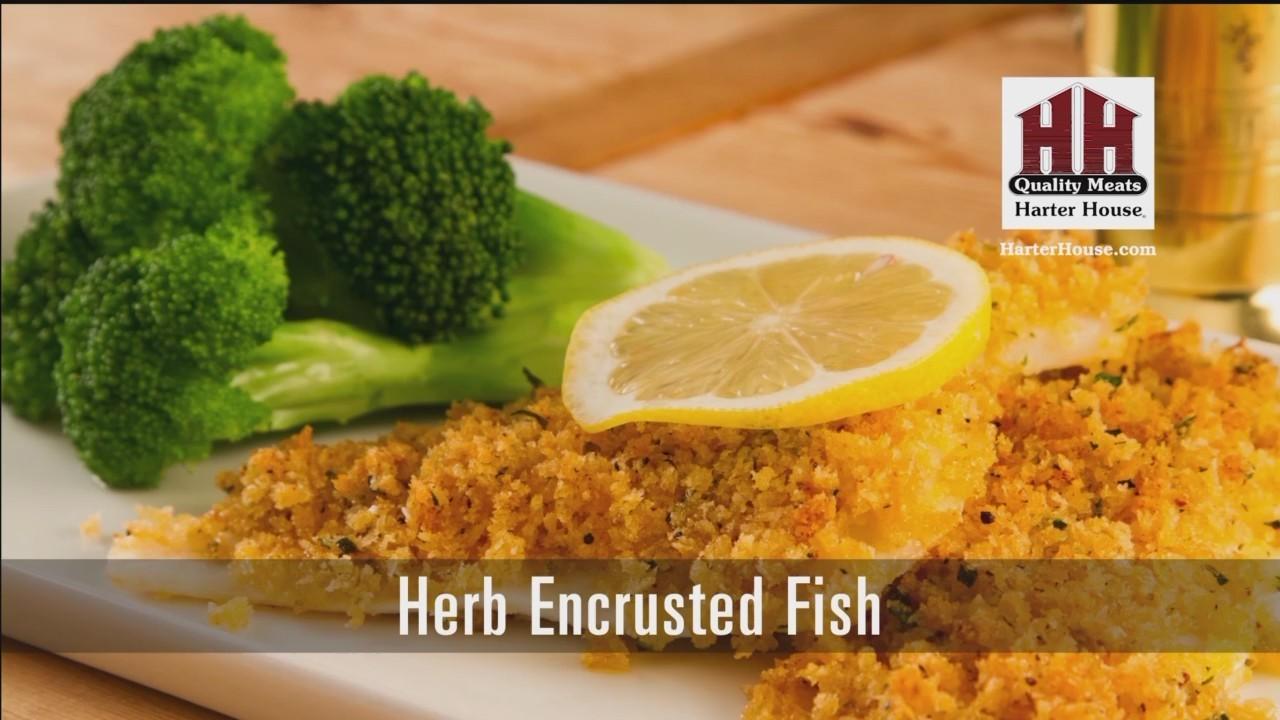 Herb Encrusted Fish