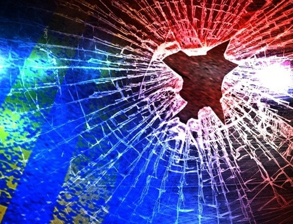 Vehicle Crash_ Broken Glass with Police Lights_312514618190021805