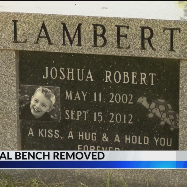 Local mom grieves after son's memorial bench was removed