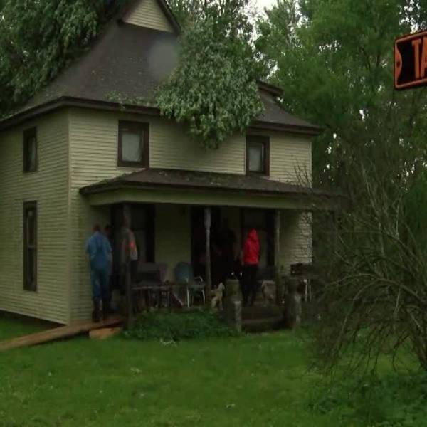 Miller House Hit by Tree