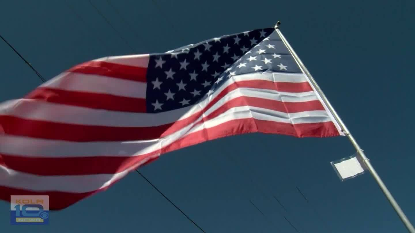 REEDS SPRING, Mo.-- John Bedore is repairing flags and then flying them outside his church. Each one represents the life of someone who fought or died defending the country.