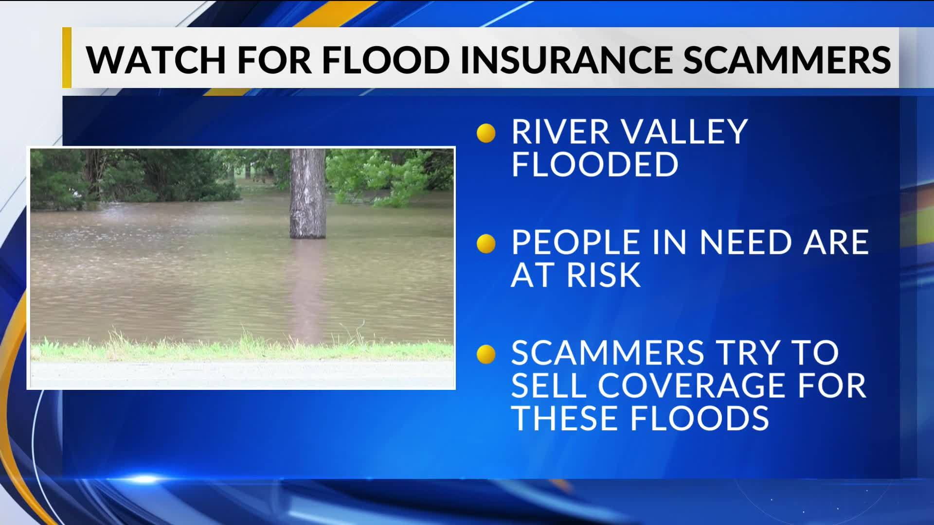 Scam artists attempting to sell flooding insurance to