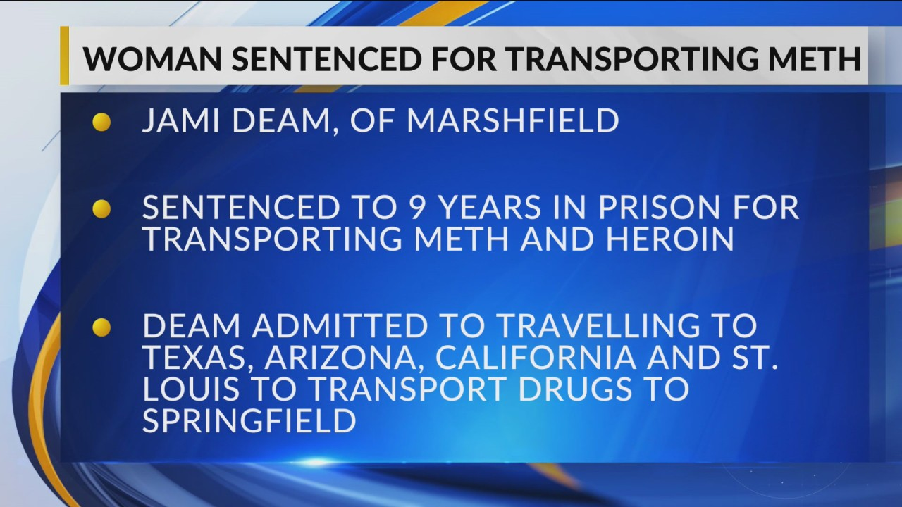 Woman sentenced in federal court for distribution of meth in
