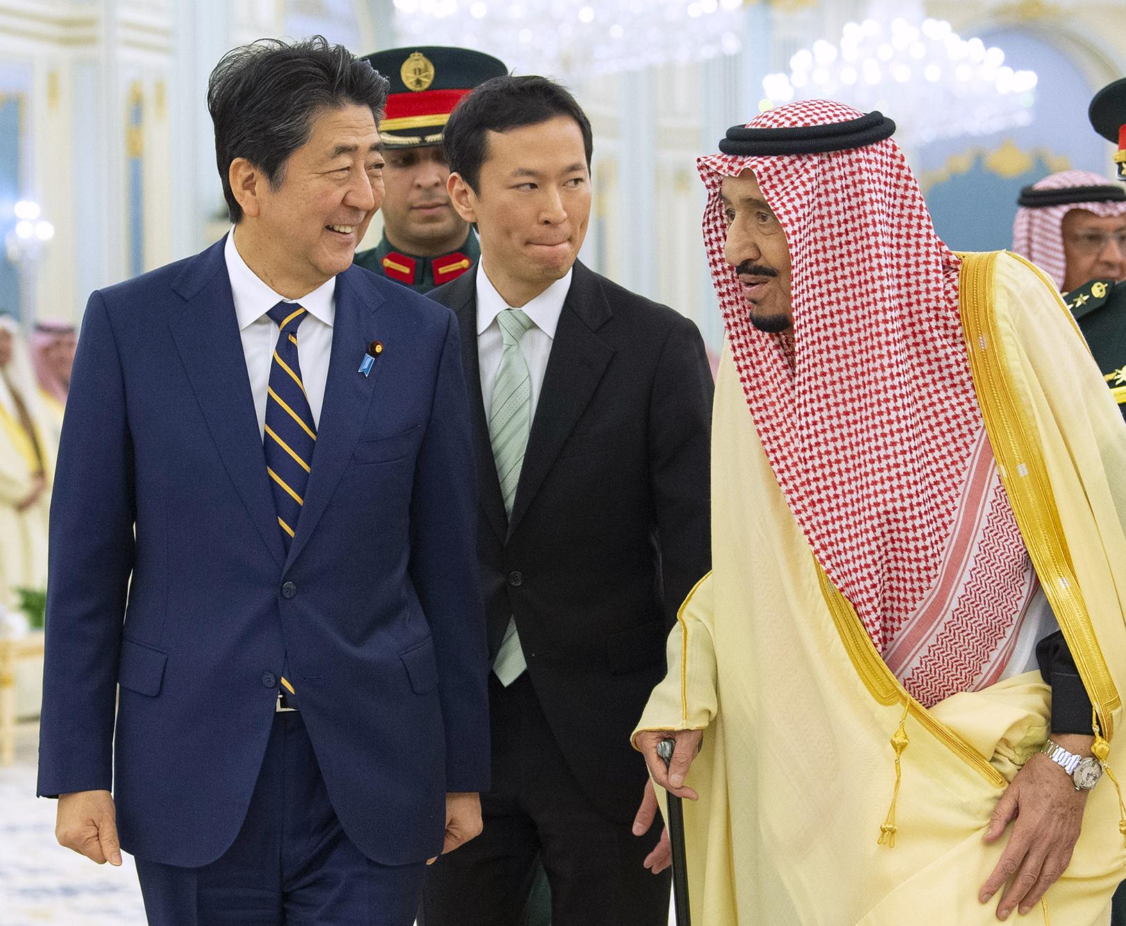 Salman, Shinzo Abe