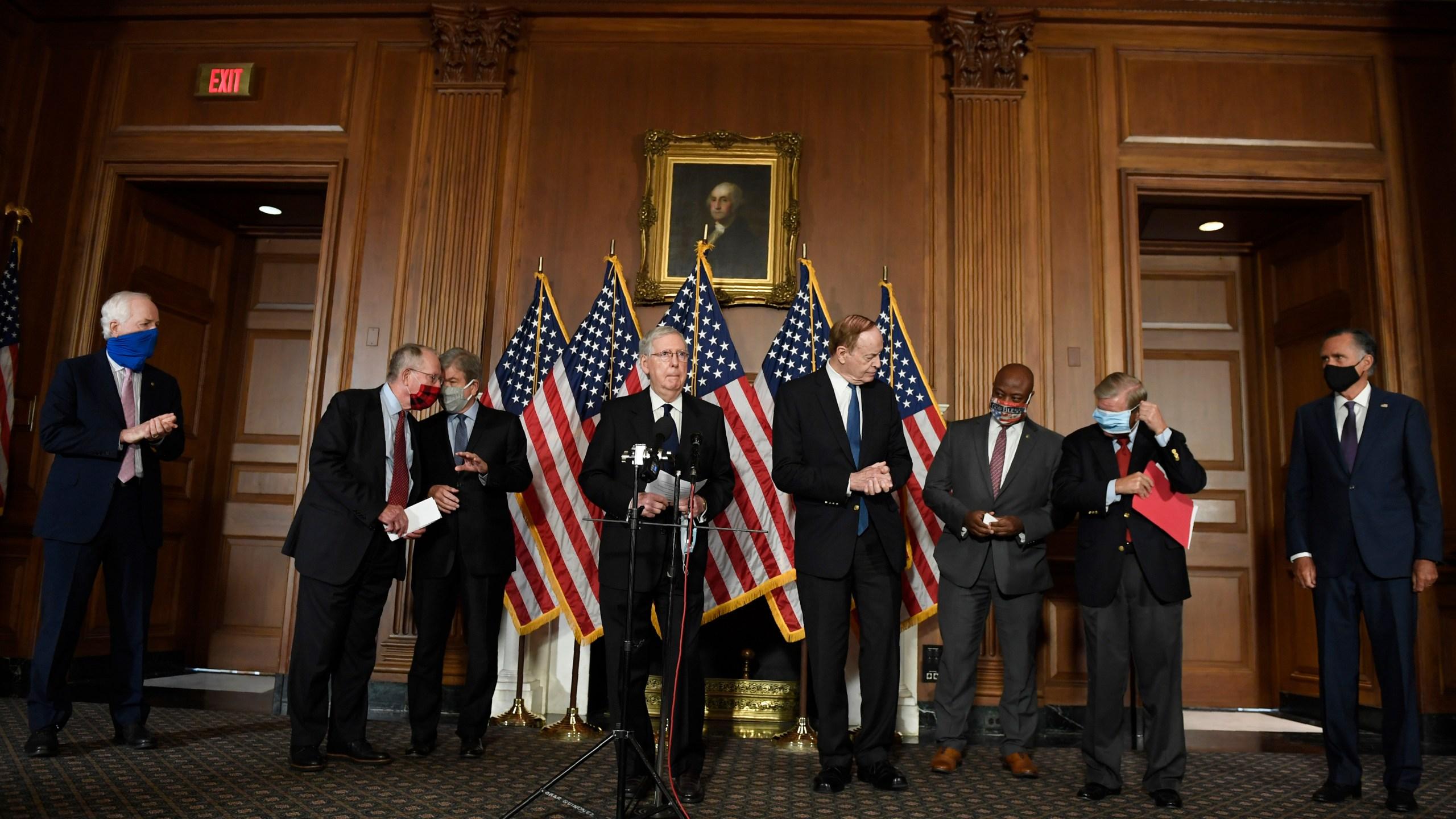 John Cornyn, Lamar Alexander, Roy Blunt, Mitch McConnell, Richard Shelby, Tim Scott, Lindsey Graham, Mitt Romney