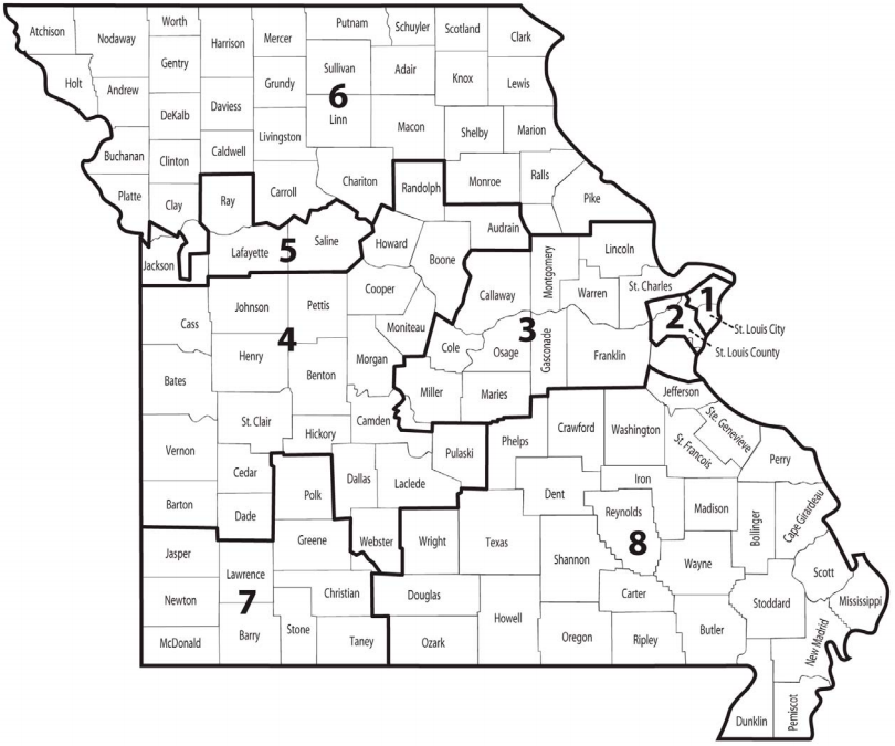 Us Representative Missouri District Map A guide to understanding Missouri's district maps before November