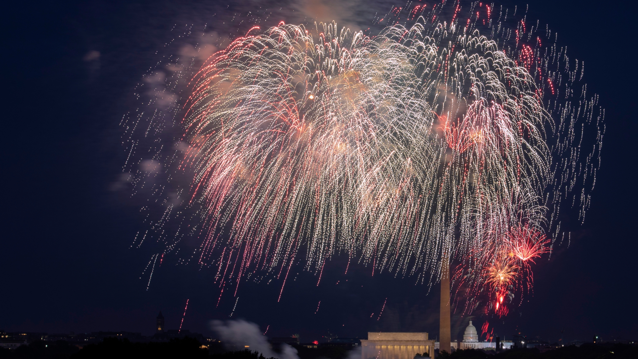 Fireworks and fourth of july
