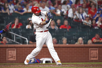 Yadier Molina hits a walkoff double against the Cubs