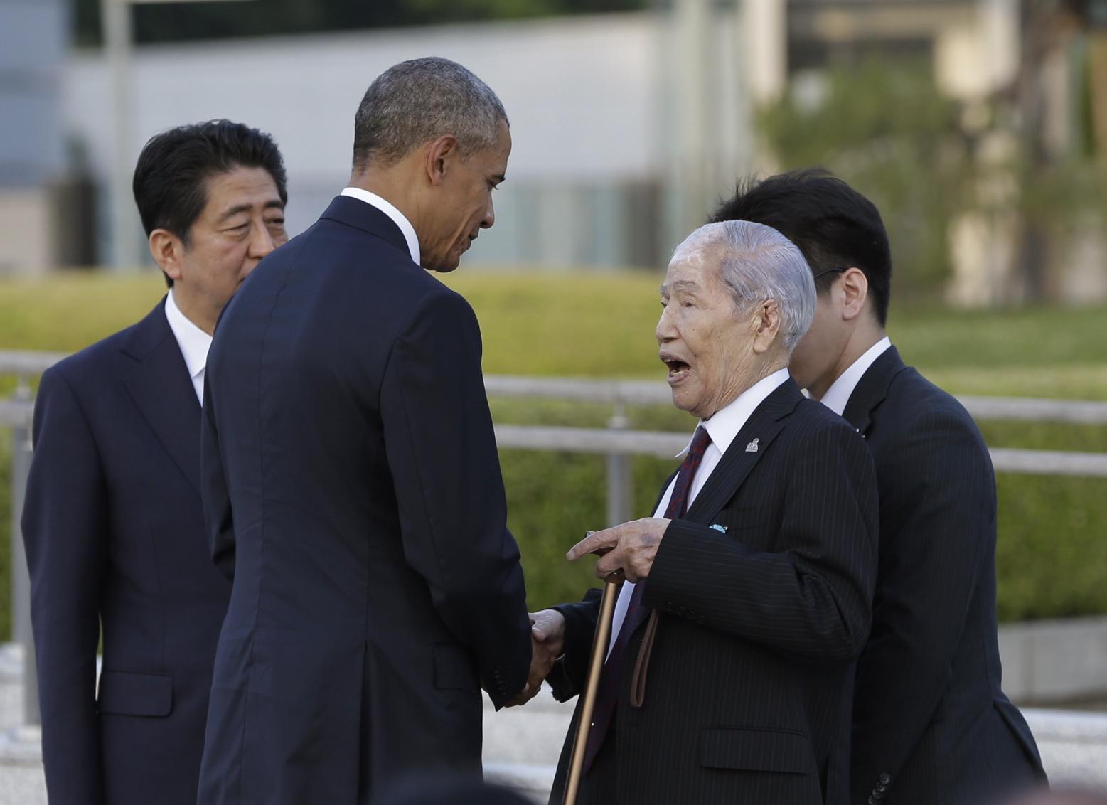 Sunao Tsuboi, Barack Obama, Shinzo Abe